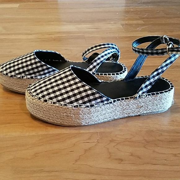 0c30950995b3 Gingham Espadrille Flatform Sandals